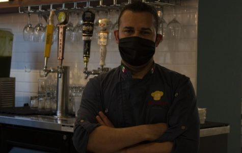 Samuel Aguirre, owner of Los Yaquis restaurant located on Folsom Street, poses for a portrait picture in San Francisco on Friday, Sept. 18, 2020. (Katherine Burgos / Golden Gate Xpress)