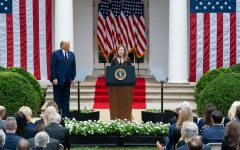 Justice Amy Coney Barrett speaks during her nomination ceremony in the White House Rose Garden on Sept. 26. (Andrea Hanks / Creative Commons)