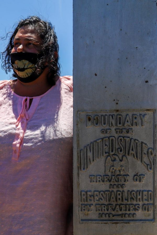 According to Parada, the existence of the U.S.-Mexico border separates Kumeyaay tribal members. Their separation has caused loss of language, song and prayer. When they convene like this, they can share what was lost from the colonialist construction, Cynthia Parada said. (Camille Cohen / Golden Gate Xpress)