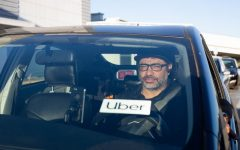 """If [Proposition 22] passes, drivers are powerless,"" said Michael Gumora, founder of the website Rideshare Report and a ride share driver for 8 years. (Sean Reyes / Golden Gate Xpress)"
