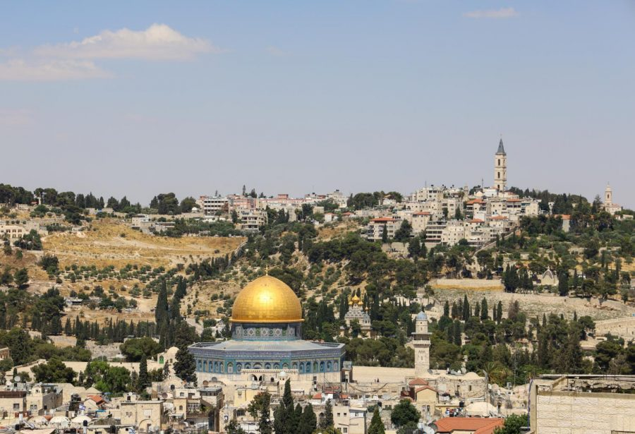 The Dome of the Rock, an Islamic Shrine and the oldest existing Islamic structure, sits on the Temple Mount in the Old City of Jerusalem. (Paisley Trent / Golden Gate Xpress)