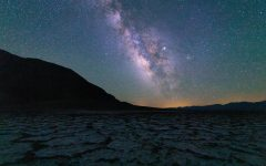 The core of the Milky Way and Jupiter (brightest star to the right of core) shines over the Badwater Basin in Death Valley National Park, Calif. on June 1, 2019. (Jun Ueda / Golden Gate Xpress)