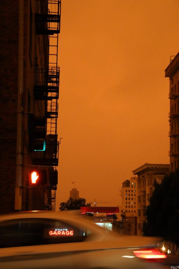 Bay Area residents woke up to orange skies from the ongoing wildfires around the state on Sept. 9, 2020, in San Francisco (Dyanna Calvario / Golden Gate Xpress)