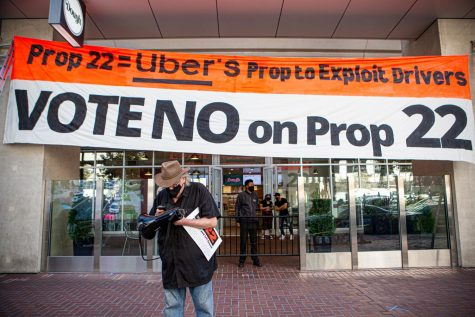 "Uber alongside a few other rideshare companies have poured $205 million into the endorsements of ""yes on prop 22"". Compared to the past propositions that were being fought within the state of California this is one of the most costly. (Sean Reyes / Golden Gate Xpress)"