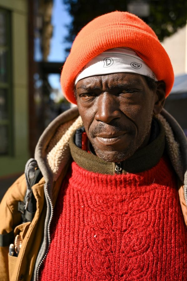 Hassan Sekou Allen, a client of GLIDE Memorial Church, says the work that GLIDE does is a blessing to him and that he couldn't survive in San Francisco if it wasn't for the church on Nov.26, 2020 in San Francisco. (James Wyatt / Golden Gate Xpress)