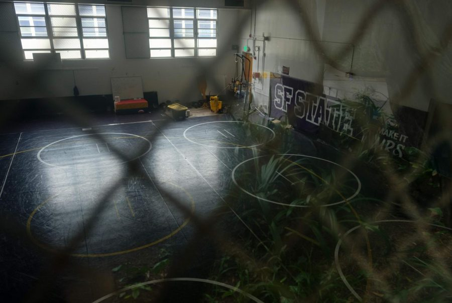 The wrestling gym at SF State on Tuesday, Jan. 25, 2021. (Cameron Lee / Golden Gate Xpress)