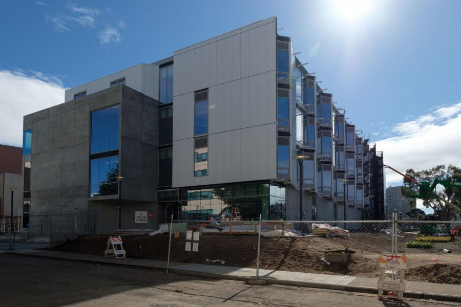 Photo of the newly built Liberal and Creative Arts Building at SF State on Monday, February 1, 2021. This will be the first academic building to be built on campus in 25 years. (Cameron Lee / Golden Gate Xpress)