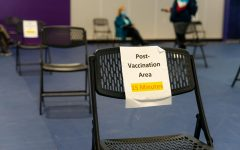 A post-vaccination rest area at the vaccination site within the Mashouf Wellness Center on Wednesday. The area was made for precautionary measures in the chance that an individual reacts to the vaccine in a negative way. (Jun Ueda / Golden Gate Xpress)