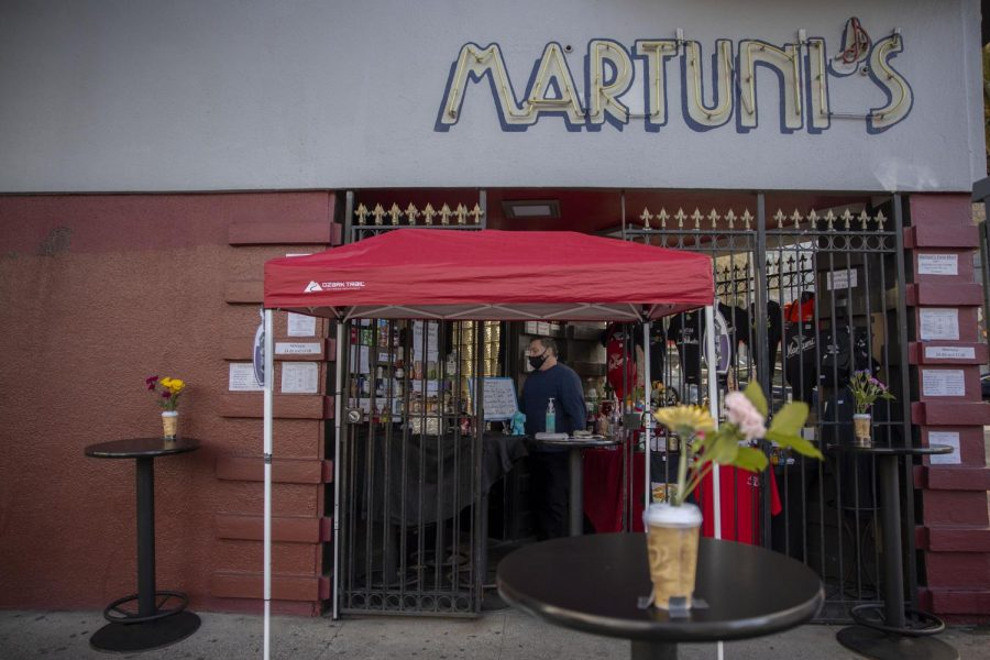 """With the new mandate, Martuni's is only allowed to sell alcoholic beverages, but not make them. In order to provide customers with the full effect, they would need to sell food. Right now the piano bar only has an option called """"Pick Your Poison,"""" where customers choose what they want, and they mix their drink on their own. (Emily Curiel / Golden Gate Xpress)"""