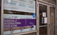 The entrance to the Division of International Education located at Village at Centennial Square at 1600 Holloway Avenue on March 15, 2021. (Lucky Whitburn-Thomas / Golden Gate Xpress)