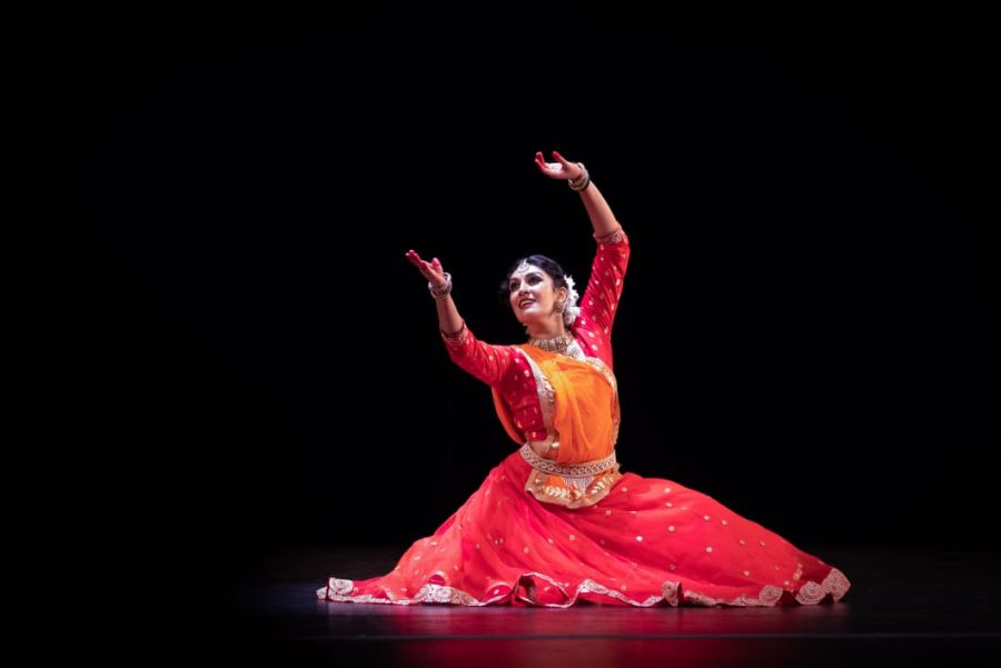 A woman dances Kathak, a Indian classical dance. The dance was one of the activities featured during the South Asian New Year festivities. (Shinjinikulkarni / Creative Commons)