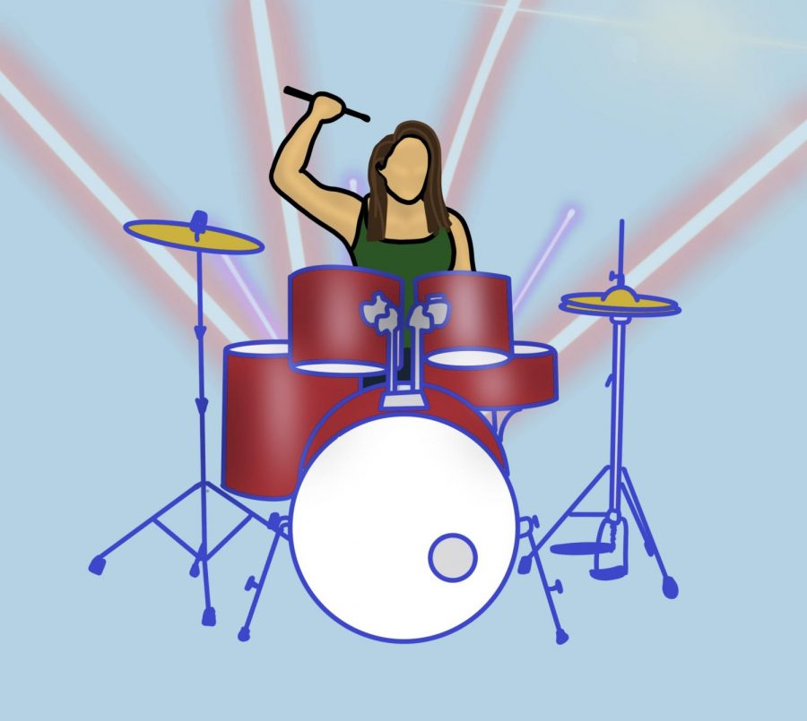 Harrison was once the only female percussionist in her high school drumline of 16 people. (Ellie Doyen / Golden Gate Xpress)