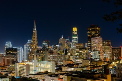 A view of the downtown San Francisco skyline from Ina Coolbrith Park on Tuesday, Jan. 19. (Jun Ueda / Golden Gate Xpress)
