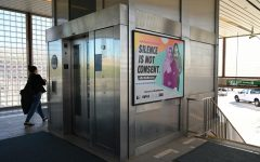 Pittsburg/Bay Point BART station is one of many other locations that display posters of the Not One More Girl campaign as it advertises BART's first sexual harassment prevention program. (Samantha Laurey / Golden Gate Xpress)