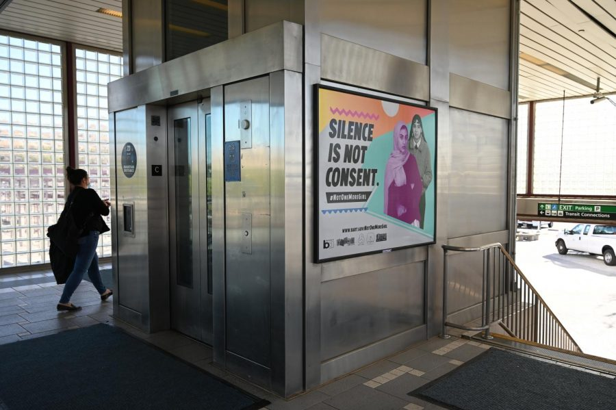 Pittsburg%2FBay+Point+BART+station+is+one+of+many+other+locations+that+display+posters+of+the+Not+One+More+Girl+campaign+as+it+advertises+BART%E2%80%99s+first+sexual+harassment+prevention+program.+%28Samantha+Laurey+%2F+Golden+Gate+Xpress%29