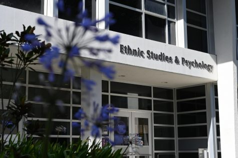 An image of the The Ethnic Studies & Psychology building at SF State on May 4. Ethnic Studies & Psychology holds the Asian American Studies department within its building, which created the ASPIRE program with Student Affairs and Enrollment Management. (Samantha Laurey / Golden Gate Xpress)