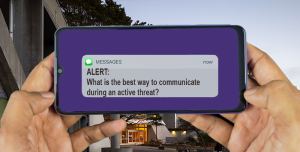 Text messaging is one of various ways the University Police Department communicates with students and faculty in the event of emergencies related to campus. (Elizabeth Agazaryan / Golden Gate Xpress)