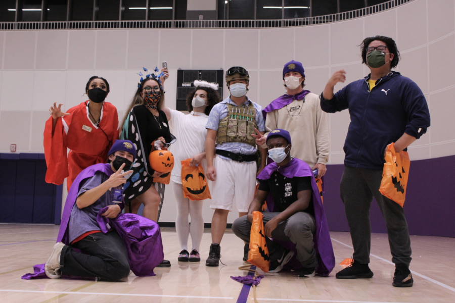 Team MWC poses for a picture after the costume dodgeball tournament on Oct. 21, 2021. MWC may have come up short in the tournament, but had fun participating in it. (Paris Galarza / Golden Gate Xpress)