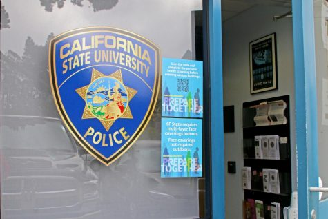 Photo of University Police Department at SF State on Oct. 7, 2021. Following the campus threat of a shooter on campus on Sept. 28, UPD has updated its crime log. (Sabita Shrestha/Golden Gate Xpress)